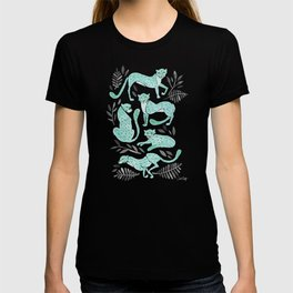 Cheetah Collection – Mint & Black Palette T-shirt