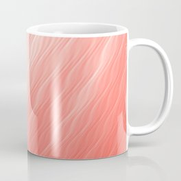 Living Coral Wavy Ombre Pattern Coffee Mug