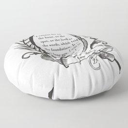 """Jane Austen """"In the Middle"""" Floor Pillow"""