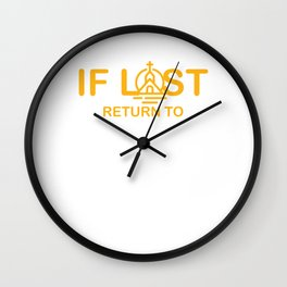 Christian Faith Pastor Preacher Gift If Lost Return To Jesus Believer Wall Clock
