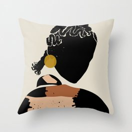 Black Hair No. 12 Throw Pillow