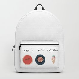 Pizza Pasta Gelata Backpack