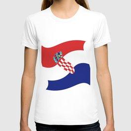 Flag of croatia 4 -croatian, Hrvatska,croat,croacia,Zagreb,split,rijeka,osijek. T-shirt