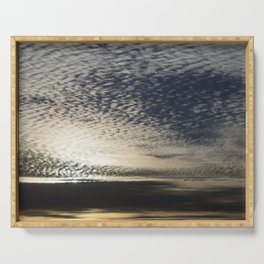 Cirrocumulus Clouds 4 Serving Tray