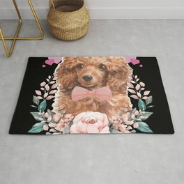 Poodle Animals Paws Day Heart Love Dog Rug