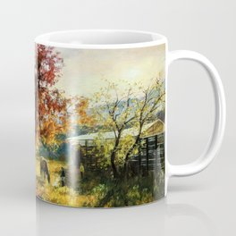 Landscape paintings with horses Coffee Mug