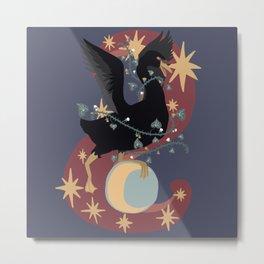 Moon Swan Metal Print