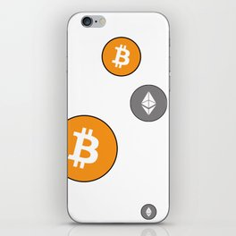 Ethereum and Bitcoin Pattern iPhone Skin