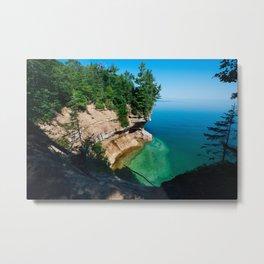 Pictured Rocks Lakeshore Metal Print