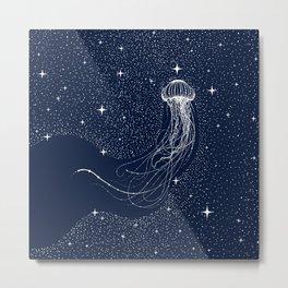 starry jellyfish Metal Print