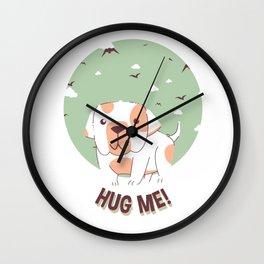 Hug Me Bulldog Puppy Wall Clock