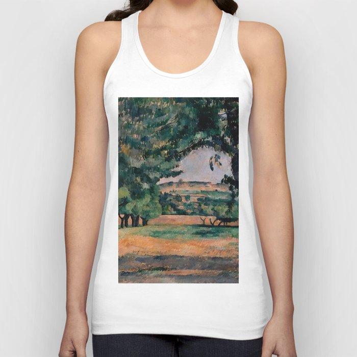 """Paul Cezanne """"The Neighborhood Of Jas De Bouffan"""" Unisex Tanktop"""