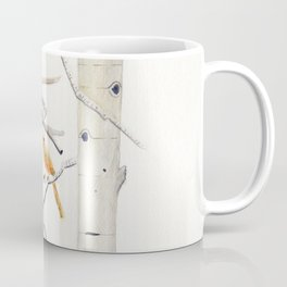 Birch Trees and Cardinal Coffee Mug