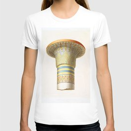 Column of the Hypostyle hall of Karnak from Histoire de lart egyptien (1878) byEmile Prisse dAvennes T-shirt