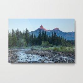 Pilot Peak - Mountain Scenery at Sunrise in Northeastern Yellowstone Metal Print