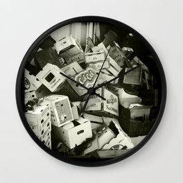 Topless fresh spinach Wall Clock