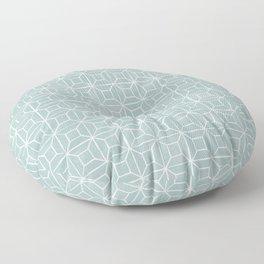 Geometric lino - egg blue Floor Pillow