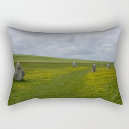 The avenue at Avebury Rectangular Pillow