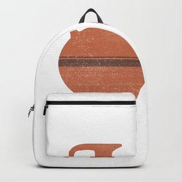 Minimal Abstract Greek Vase 20 - Oinochoe - Terracotta Series - Modern, Contemporary Print - Sienna Backpack