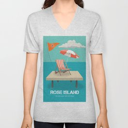 Rose Island - Alternative Movie Poster Unisex V-Neck