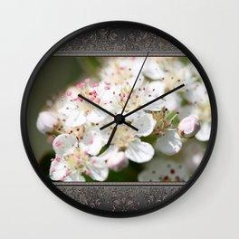 Aronia Blossoms Wall Clock