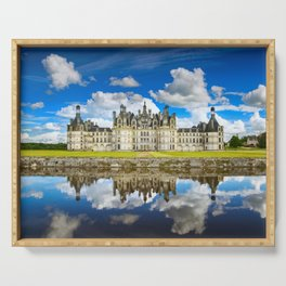 Chambord castle. Loire, France Serving Tray