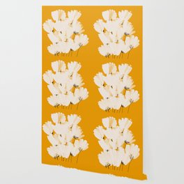 Flowers In Tangerine Wallpaper