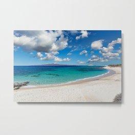 Kastraki beach of Naxos island in Cyclades, Greece Metal Print