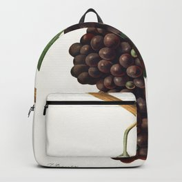 Mourvaison printed in 1910 by Jules Troncy (1855-1915) a vintage lithograph of fresh cluster of grapes Backpack