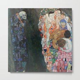 Gustav Klimt - Death and Life Metal Print