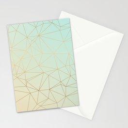 Pastel Geometric Minimalist Pattern Stationery Cards