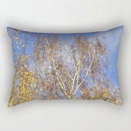 Birch in the Autumn-Light Rectangular Pillow