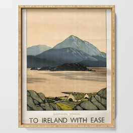 Werbeposter To Ireland with ease Serving Tray