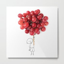 Boy with grapes - NatGeo version Metal Print