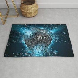 Disco planet explosion Rug