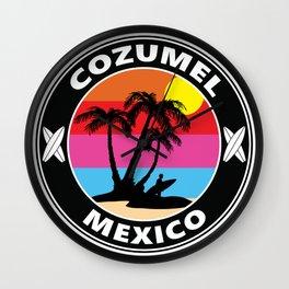 Surf Cozumel Mexico Wall Clock