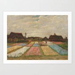 Classic Art - Flower Beds in Holland - Vincent van Gogh Art Print