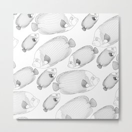 Emperor Fish Patterns Metal Print