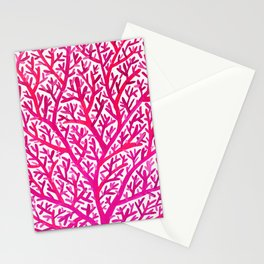 Fan Coral – Pink Ombré Stationery Cards