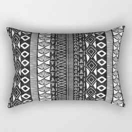 Adobe in Black and White Rectangular Pillow
