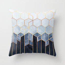 Soft Blue Hexagons Deko-Kissen