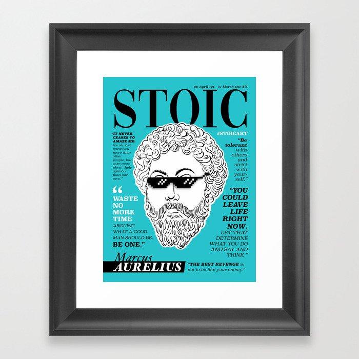 Stoic. Marcus Aurelius Gerahmter Kunstdruck
