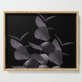 Eucalyptus Leaves Black Black #1 #foliage #decor #art #society6 Serving Tray