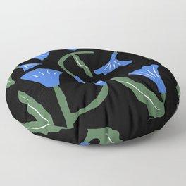 Blue flower illumination Floor Pillow