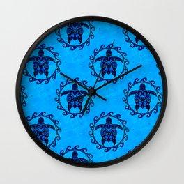 Tribal Turtle Sun Pattern Wall Clock