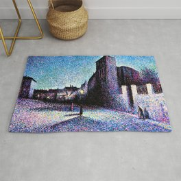 Maximilien Luce - Rue Ravignan, Paris - Digital Remastered Edition Rug