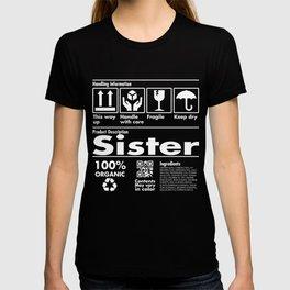 Product Description Tee Shirt - Sister E T-shirt