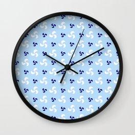 spiral 32- blue Wall Clock