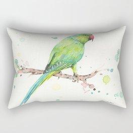 Rose Ringed Parakeet Rectangular Pillow