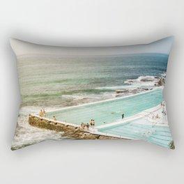 Bondi Icebergs Club | Bondi Beach Sydney Australia Ocean Coastal Travel Photography Rectangular Pillow